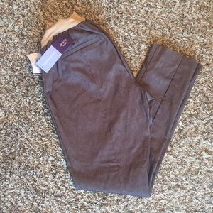 Gray dress maternity pants